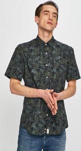 Zielona koszula Pierre Cardin z klasycznym kołnierzykiem