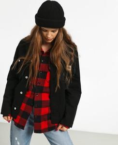 Czarna kurtka Carhartt WIP w stylu casual z żakardu krótka