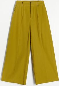 Zielone spodnie Reserved w stylu retro