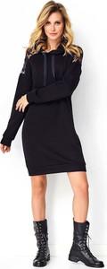 Czarna sukienka Makadamia sportowa mini z bawełny