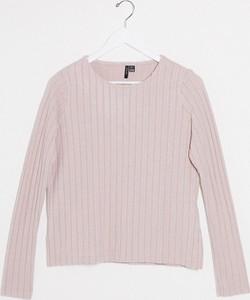 Różowa bluzka Vero Moda z długim rękawem
