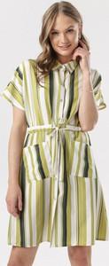 Sukienka born2be w stylu casual mini z kołnierzykiem
