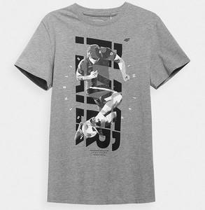 T-shirt 4F z bawełny z krótkim rękawem