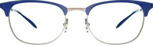 Niebieskie okulary damskie Ray-Ban w stylu glamour