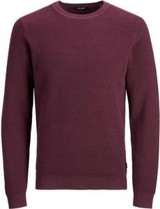 Czerwony sweter Jack Jones z bawełny w stylu casual
