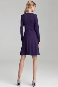 Fioletowa sukienka Colett z długim rękawem