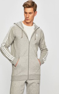 Srebrna bluza Adidas Originals z bawełny