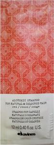 Davines Alchemic Red | Szampon do włosów czerwonych i mahoniowych 12ml