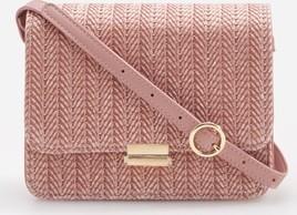 Różowa torebka Reserved zdobiona średnia