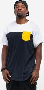 Granatowy t-shirt Urban Classics z krótkim rękawem