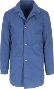 Niebieski płaszcz męski Breuer