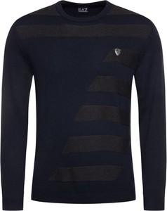 Granatowy sweter Emporio Armani