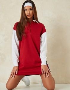 Czerwona sukienka Missguided mini koszulowa