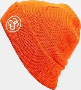 Pomarańczowa czapka Stussy