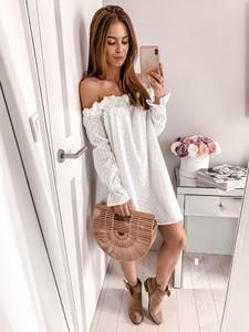Sukienka L'Amour z bawełny w stylu casual z długim rękawem