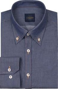 Niebieska koszula Lavard z klasycznym kołnierzykiem