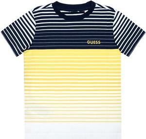 Koszulka dziecięca Guess dla chłopców w paseczki