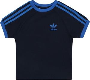 Granatowa koszulka dziecięca Adidas Originals w paseczki