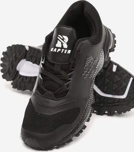 Czarne buty sportowe born2be w sportowym stylu ze skóry ekologicznej