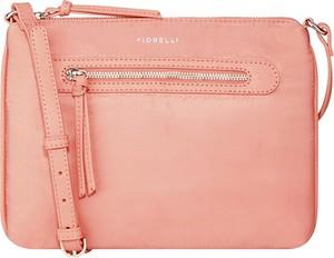 Różowa torebka Fiorelli na ramię średnia
