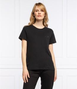 Czarny t-shirt Superdry w stylu casual z okrągłym dekoltem z krótkim rękawem