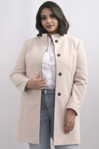 Płaszcz KARKO z tkaniny w stylu casual