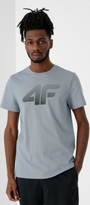 T-shirt 4F z nadrukiem z dzianiny z krótkim rękawem
