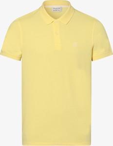 Żółta koszulka polo Selected z bawełny z krótkim rękawem