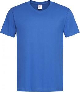 Niebieski t-shirt Stedman z krótkim rękawem