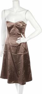 Brązowa sukienka Coast bez rękawów gorsetowa mini