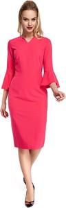Sukienka MOE dopasowana midi w stylu casual