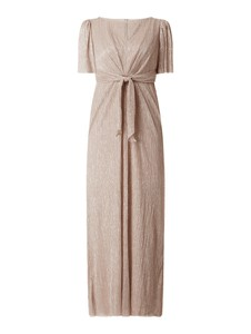 Sukienka Adrianna Papell z krótkim rękawem z dekoltem w kształcie litery v maxi