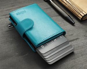 Niebieski portfel Pularys