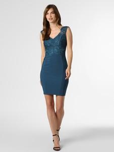 Niebieska sukienka Lipsy ołówkowa bez rękawów z dekoltem w kształcie litery v