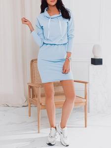 Niebieska sukienka Edoti mini