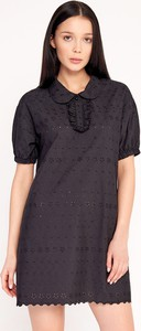 Czarna sukienka Byinsomnia z tkaniny