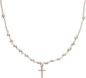 Ania Kruk Choker URBAN CHIC srebrny z kuleczkami i krzyżykiem