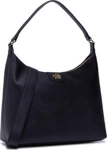 Czarna torebka DKNY w stylu casual na ramię matowa
