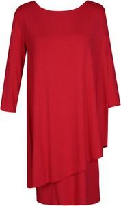 Sukienka Fokus dopasowana w stylu boho z długim rękawem
