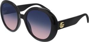 Czarne okulary damskie Gucci