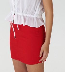 Czerwona spódnica House