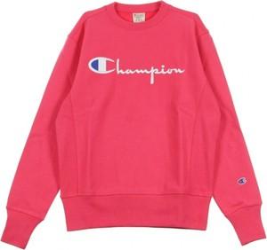 Różowa bluza Champion w młodzieżowym stylu z bawełny