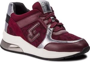 Sneakersy Liu-Jo ze skóry ekologicznej na koturnie sznurowane