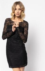 Czarna sukienka Patrizia Pepe dopasowana mini