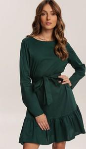 Sukienka Renee mini z długim rękawem z okrągłym dekoltem