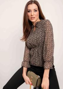 Brązowa bluzka Sheandher.pl w stylu casual