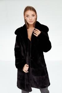 Czarny płaszcz Smoke Furs