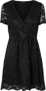 Sukienka Vero Moda mini kopertowa z krótkim rękawem