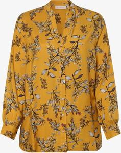 Złota bluzka ONLY Carmakoma z długim rękawem z dekoltem w kształcie litery v w stylu casual