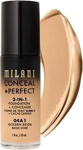 Milani, Conceal + Perfect 2-in-1 Foundation + Concealer, kryjący podkład do twarzy, 04A1 Golden Beige, 30 ml